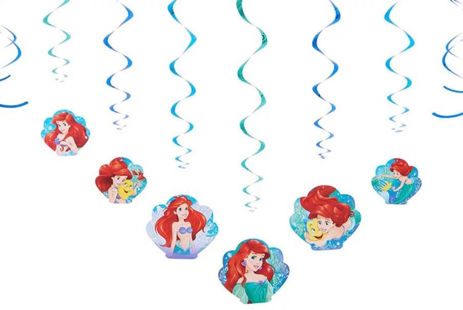 Disney The Little Mermaid Hanging Party Decorations 12pc Walmart Com Walmart Com