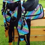 Equitem 12 Rainbow Hearts Synthetic Western Saddle Set Walmart Com Walmart Com