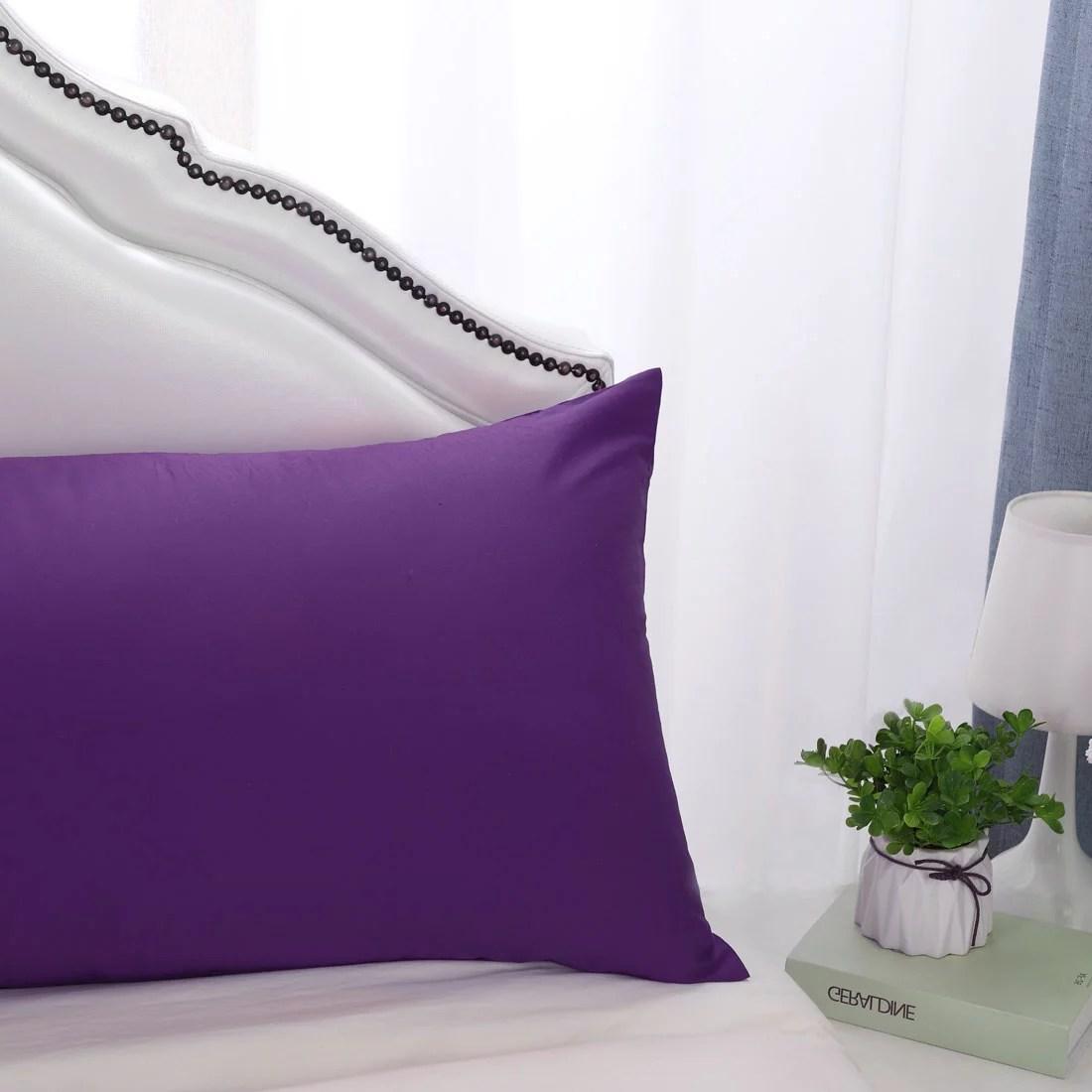 deep purple pillow cases