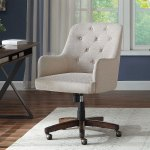 Better Homes Gardens Tufted Office Chair Natural Fabric Upholstery And Espresso Wood Base Walmart Com Walmart Com