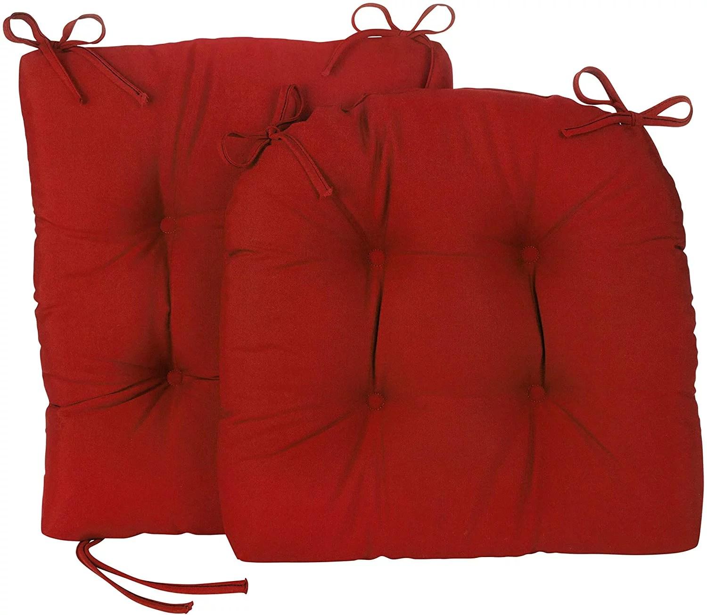 2 piece porch outdoor indoor red rocking chair cushion set