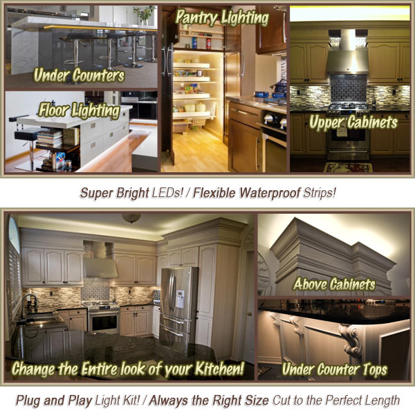 kitchen cabinet counter led lighting
