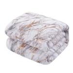 Your Zone Metallic Marble Comforter Bedding Set Twin Twin Xl Rose Gold Walmart Com Walmart Com