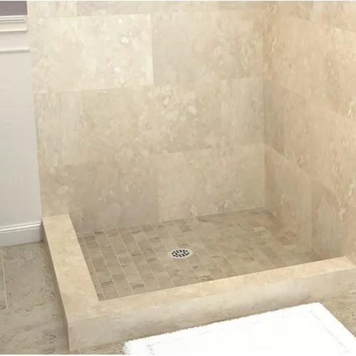tile redi muli curb shower pan double threshold shower base