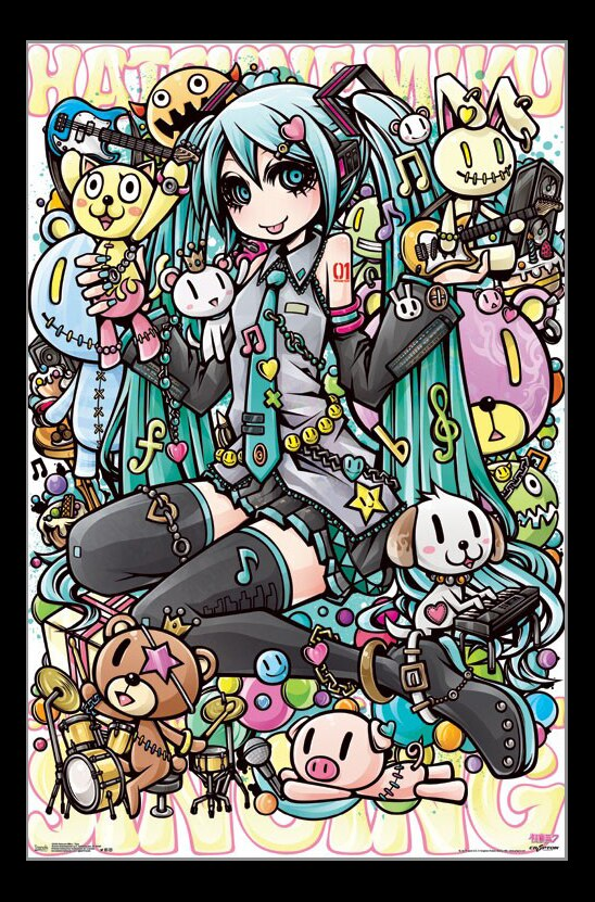 hatsune miku toys poster print item vartiarp15420