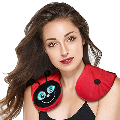 zorelle animal heating neck and shoulders pad wrap microwavable heated aromatherapy and hot therapy ladybug