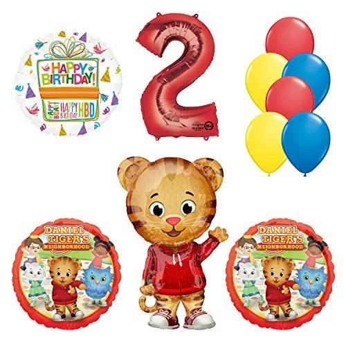 Daniel Tiger Neighborhood 2nd Birthday Party Supplies And Balloon Decorations Walmart Com Walmart Com