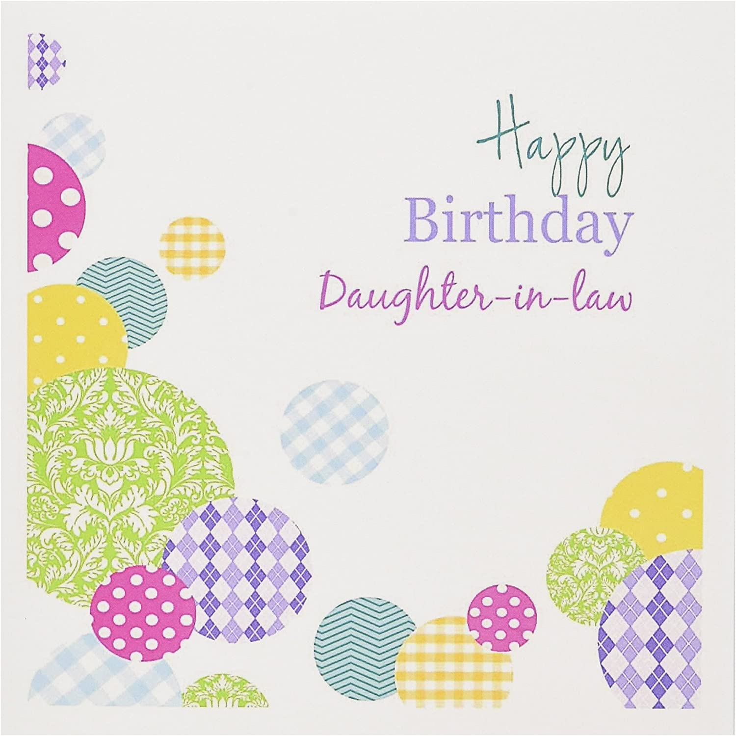 Happy Birthday Daughter In Law Colorful Dots On White Greeting Card 6 X 6 Inches Single Gc 165133 5 Walmart Canada