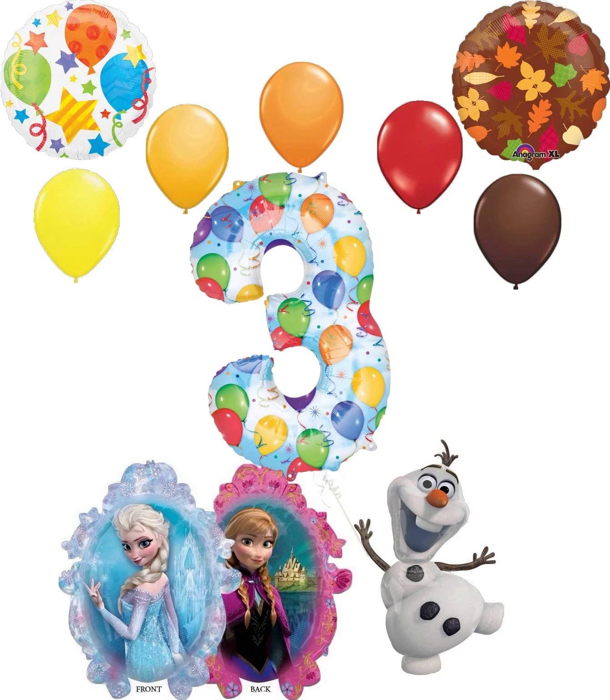 Frozen 2 Party Supplies Elsa Anna And Olaf 3rd Birthday Balloon Bouquet Decorations Walmart Com Walmart Com