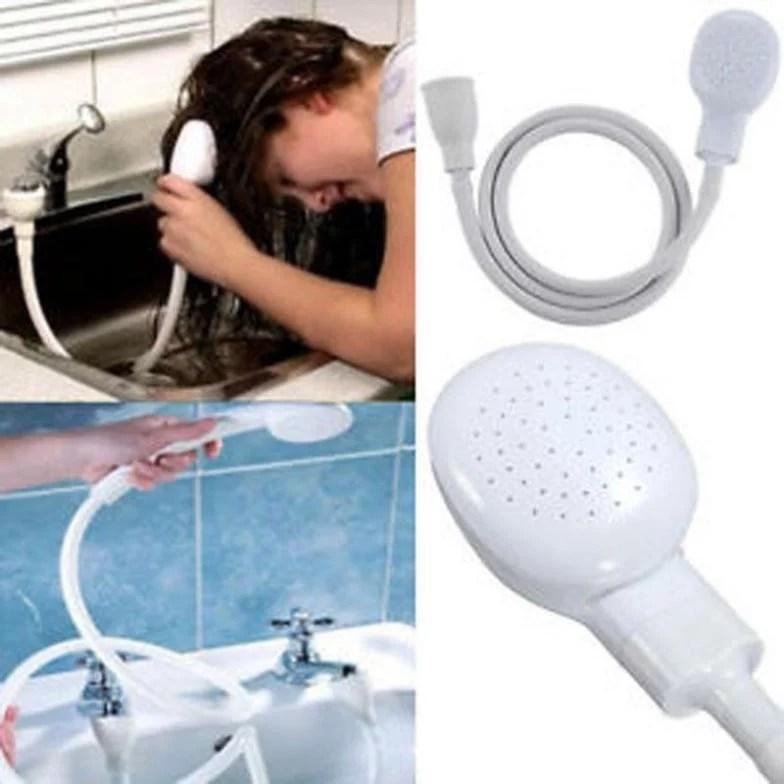 hair dog cat pet shower sprays hose bath tub sink faucet attachment washing indoors