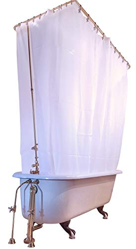 Clawfoot Designs Heavy Duty Peva Tub Shower Curtain No Odor
