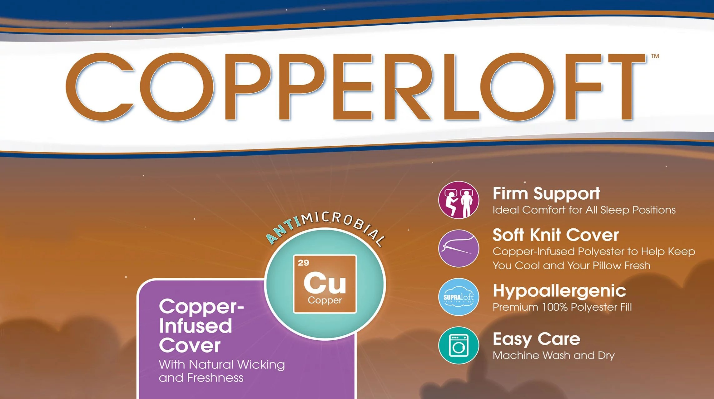 sertapedic copperloft pillow with copper infused cover standard queen