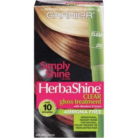 garnier simply shine by herbashine clear gloss treatment 1pk walmart