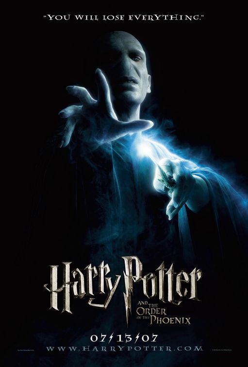 harry potter and the order of the phoenix movie poster print teaser design lord voldemort size 27 x 39 poster poster strip set
