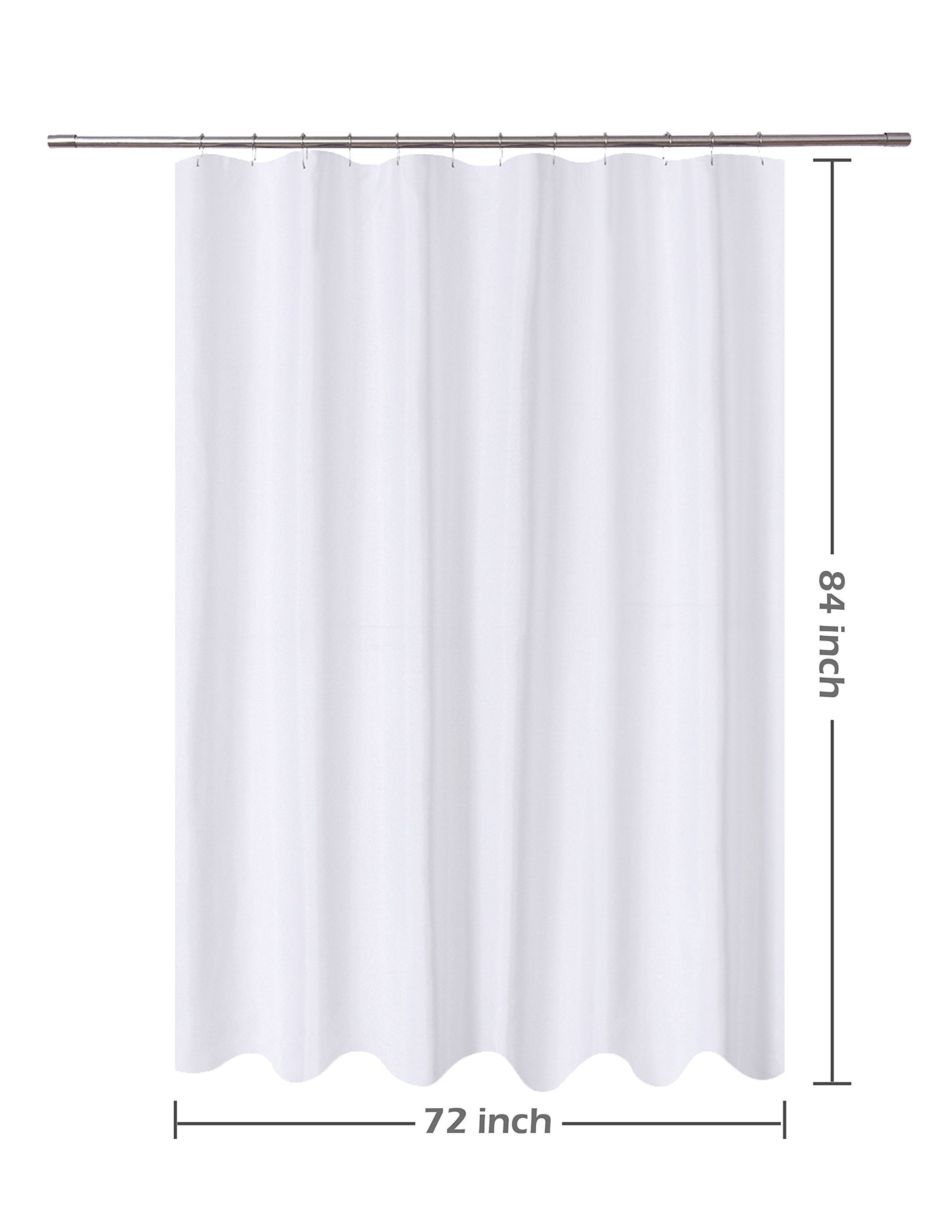 n y home fabric shower curtain liner extra long 72 x 84 inches with 2 bottom magnets hotel quality washable water repellent white spa bathroom