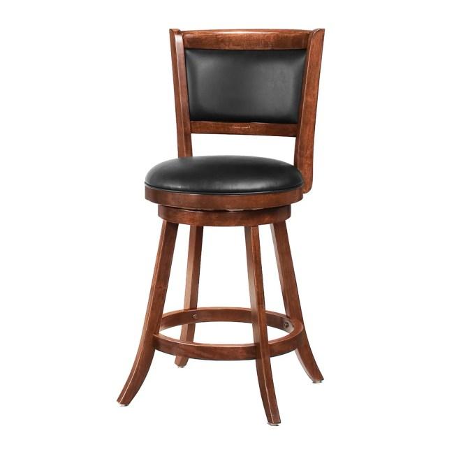 Coaster Furniture 24 in. Solid Back Swivel Bar Stool - Set of 2