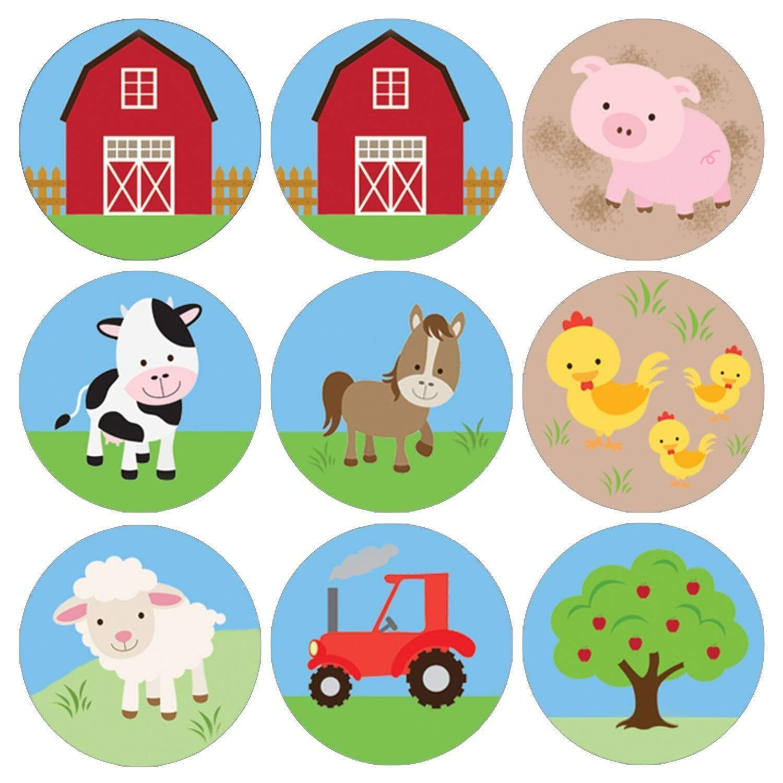 Barnyard Farm Animals Birthday Party Favor Stickers 180 Count Distinctivs Walmart Com Walmart Com