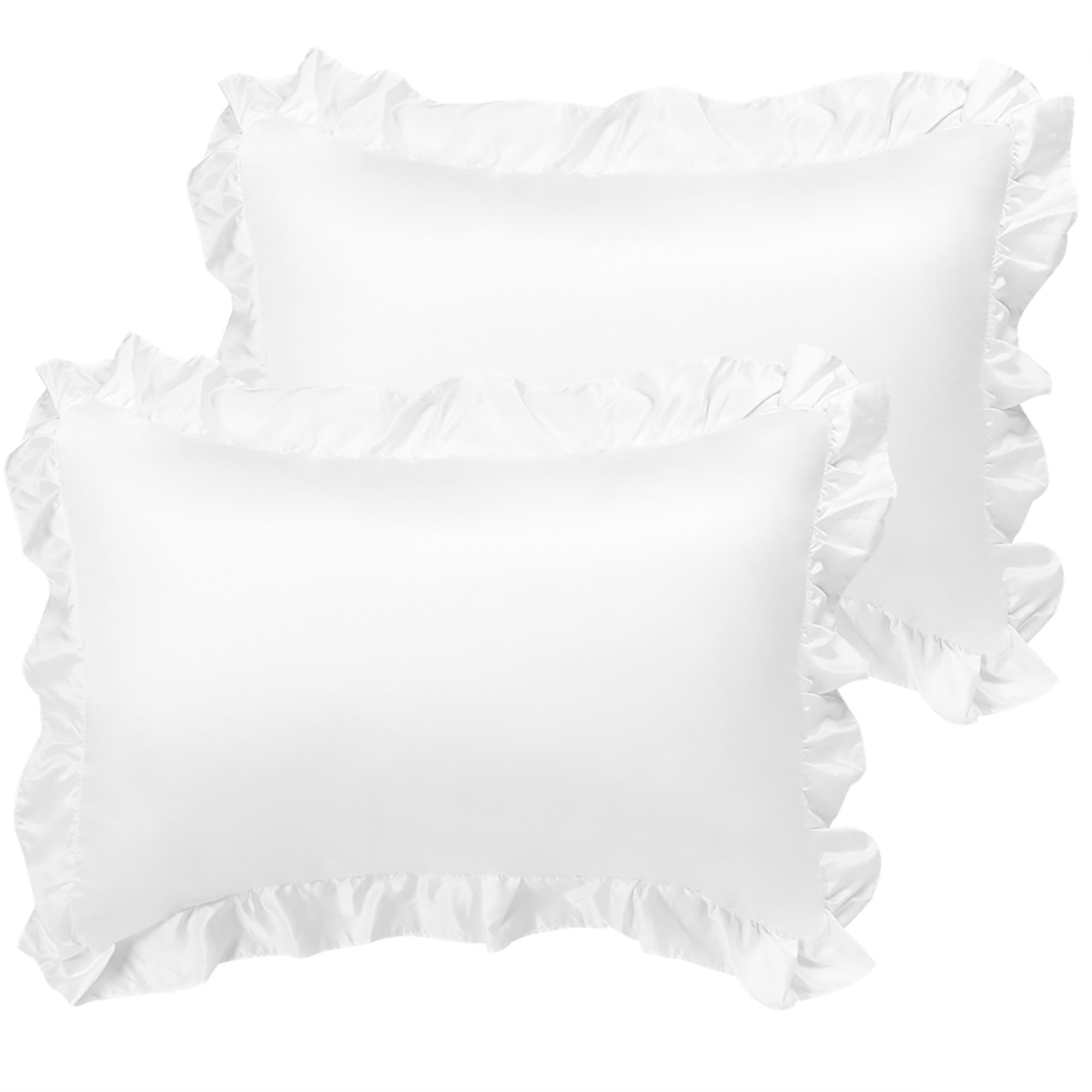 satin pillowcase king ruffled pillow shams set of 2 silky sateen pillow cases covers walmart com