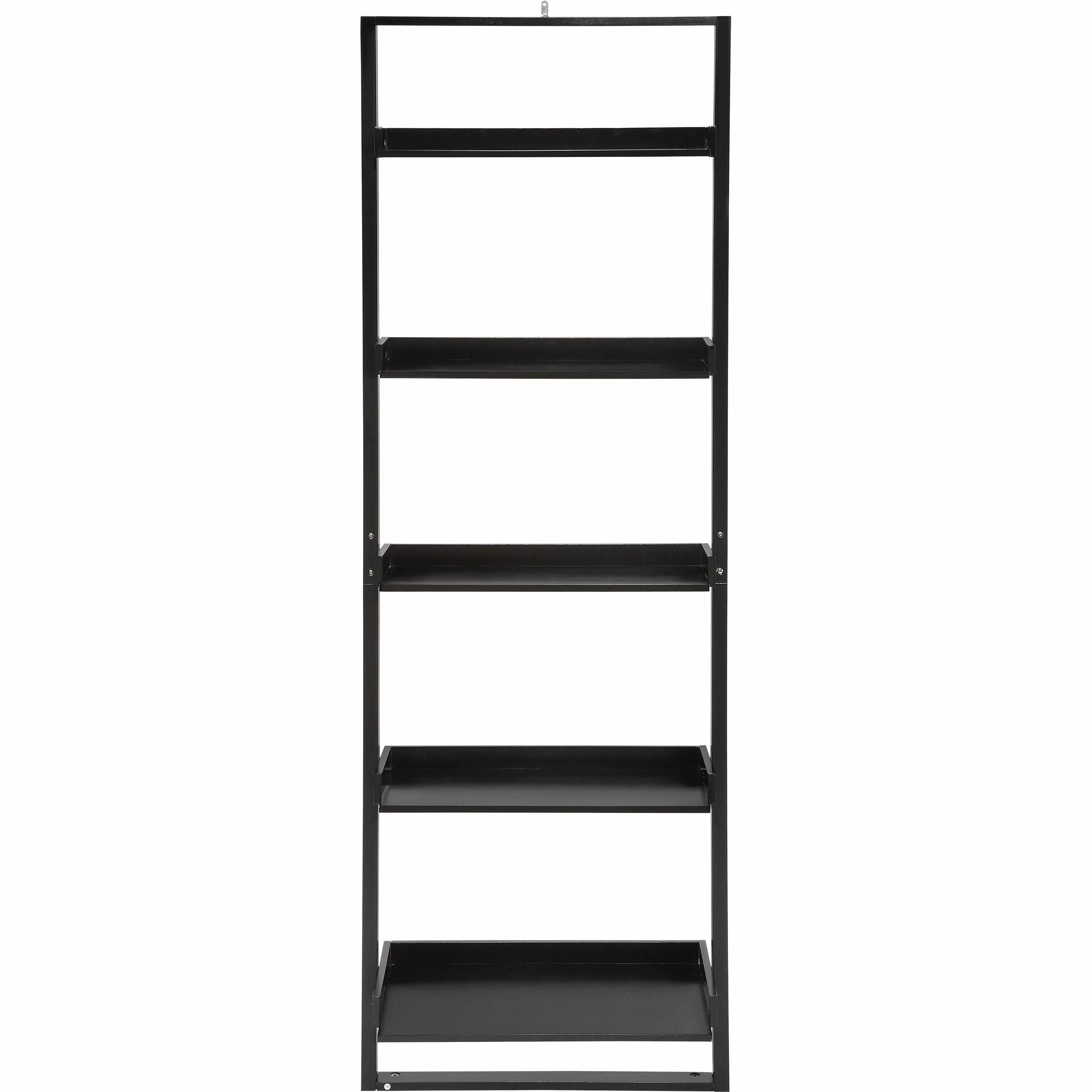 Details About Mainstays 5 Shelf Leaning Ladder Bookcase Espresso