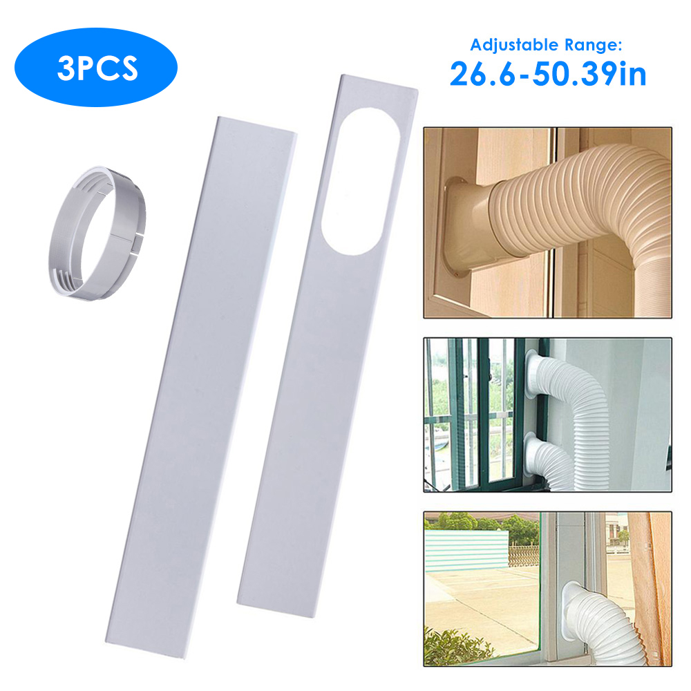 meterk 3pcs window seal kit for exhaust hose slide window plate with circular exhaust duct interface 26 6 50 39in adjustable length window vent kit