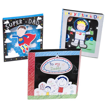 FATHERS DAY GREETING CARD TURNS INTO A TABLE DECORATION 3ASST, Case Pack of 36