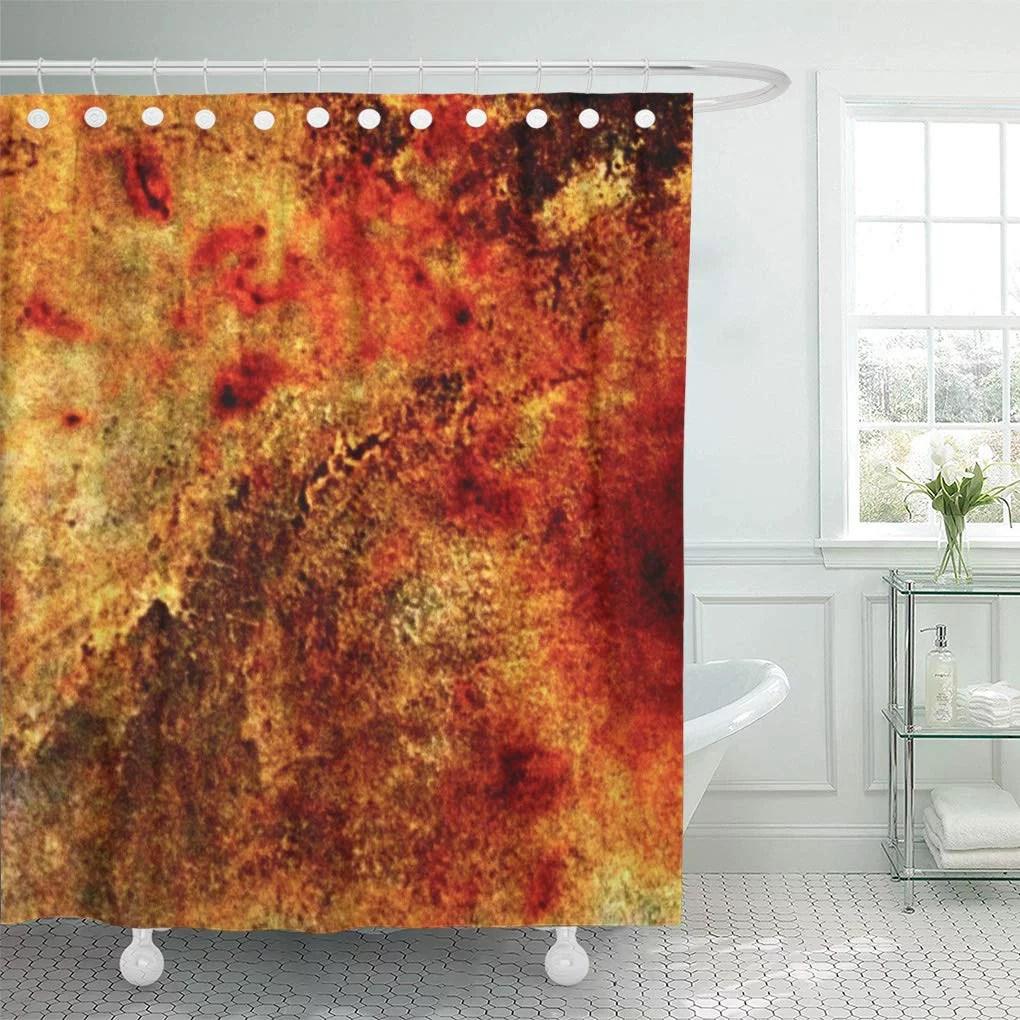 suttom brown southwestern burnt orange tan fall autumn shower curtain 60x72 inch