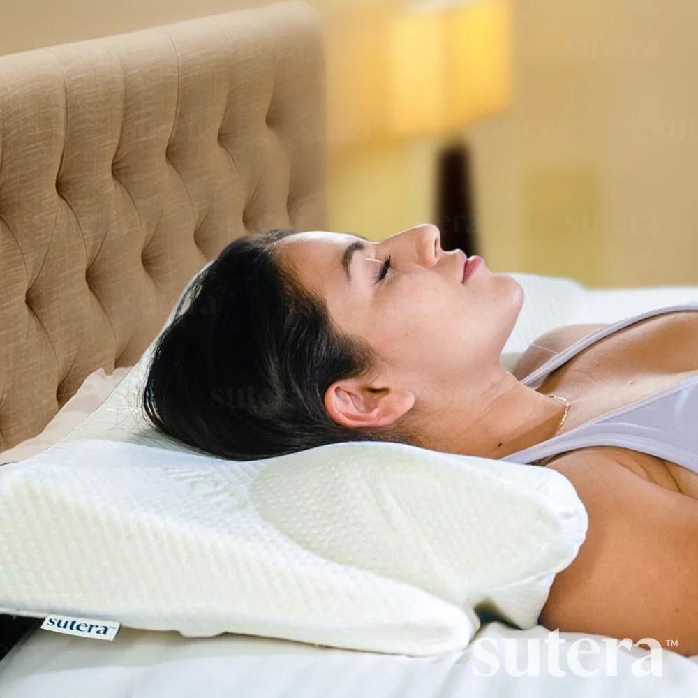 sutera dream deep memory foam pillow cervical orthopedic contour pillow