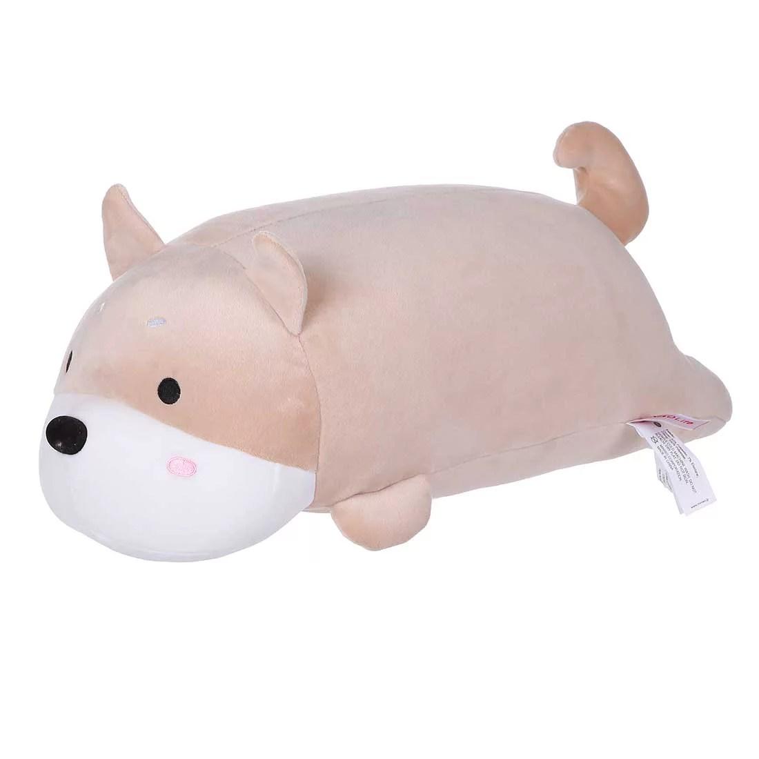 miniso shiba inu dog plush toy pillow cute stuffed doll gift for boy girl kids 13 khaki