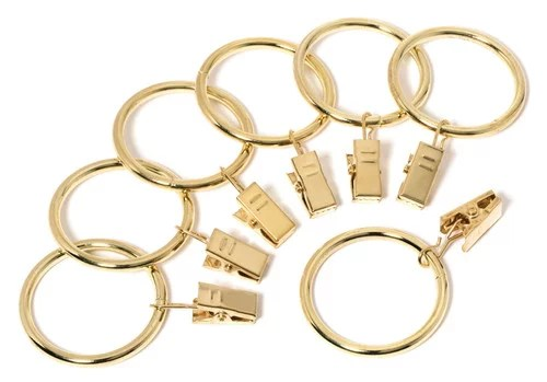 1 1 2 inch metal curtain clip rings 1 5 set of 20