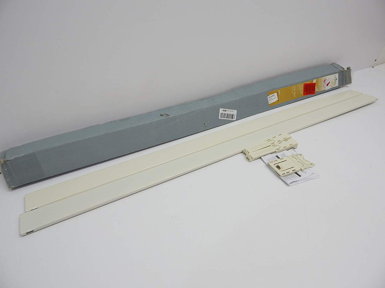 graber 2 1 2 inch dauphine wide pocket curtain rod 66 to 156 inch adjustable width white walmart com
