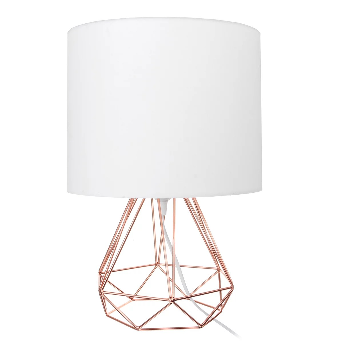 bedside table lamp small nightstand lamp modern style hollowed out base with fabric drum shaped lampshade for bedrooms living room