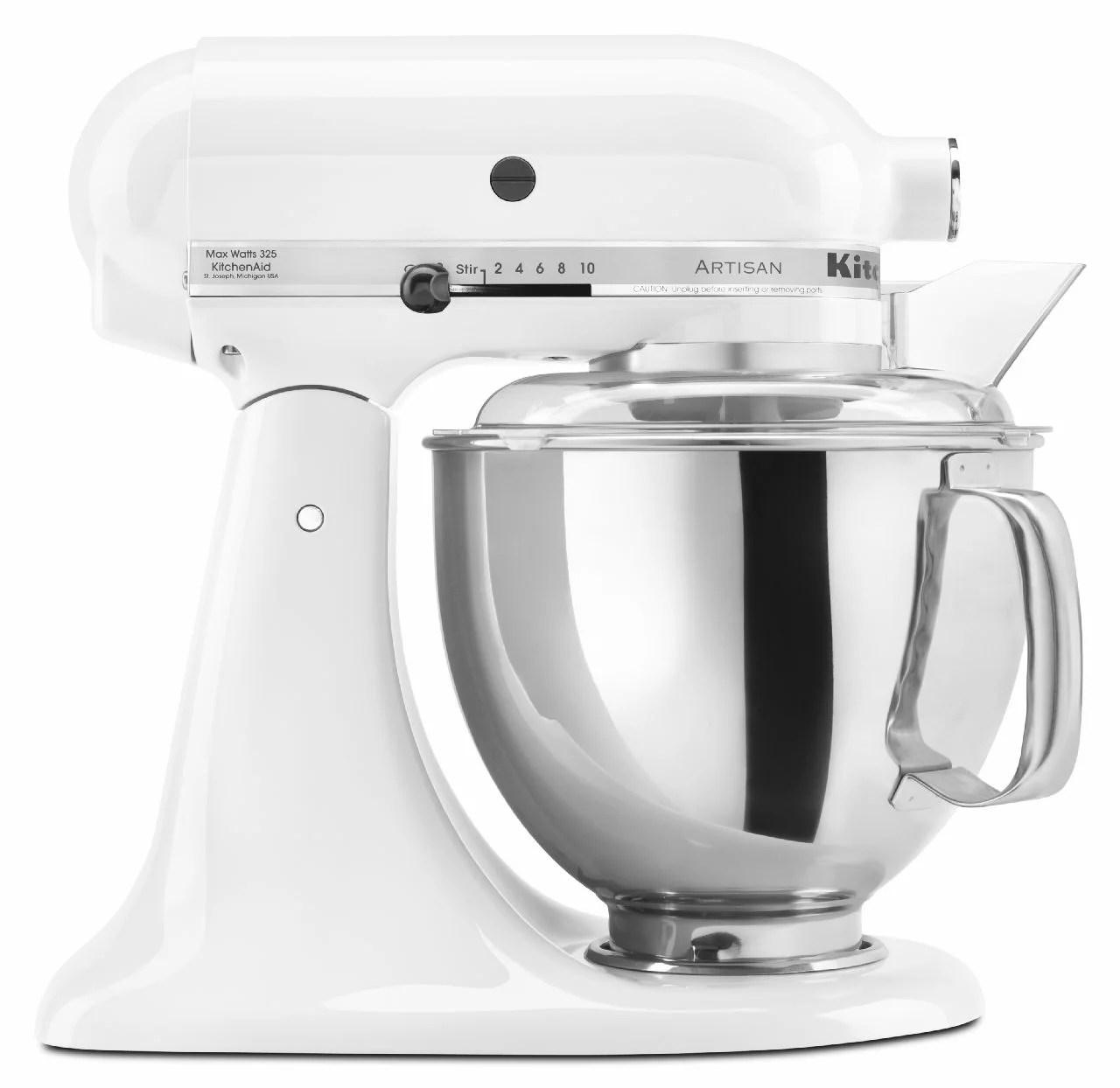 kitchenaid artisan series 5 quart tilt head stand mixer white ksm150pswh walmart com