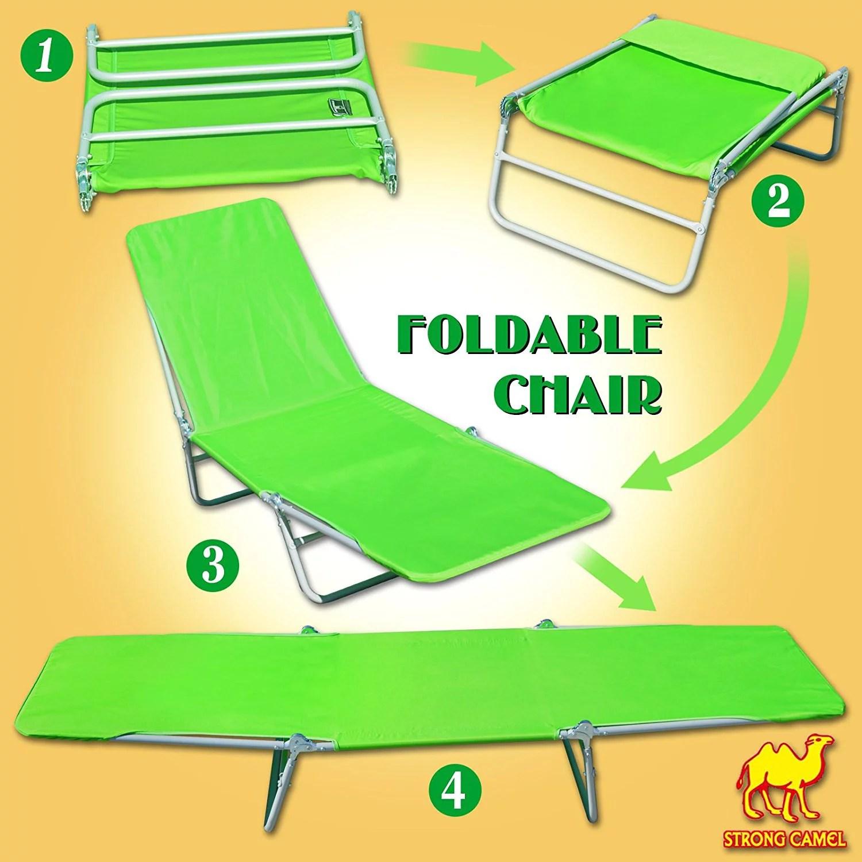 strong camel outdoor folding recliner