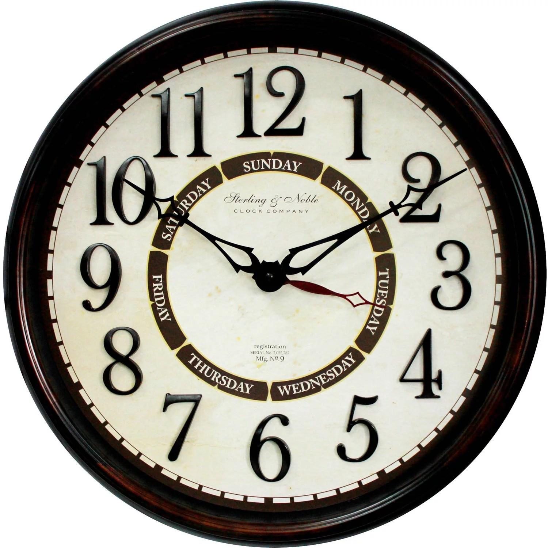 Better Homes Amp Gardens 20 Calendar Wall Clock