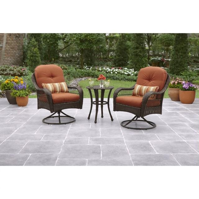 better homes and gardens azalea ridge 3-piece outdoor bistro set