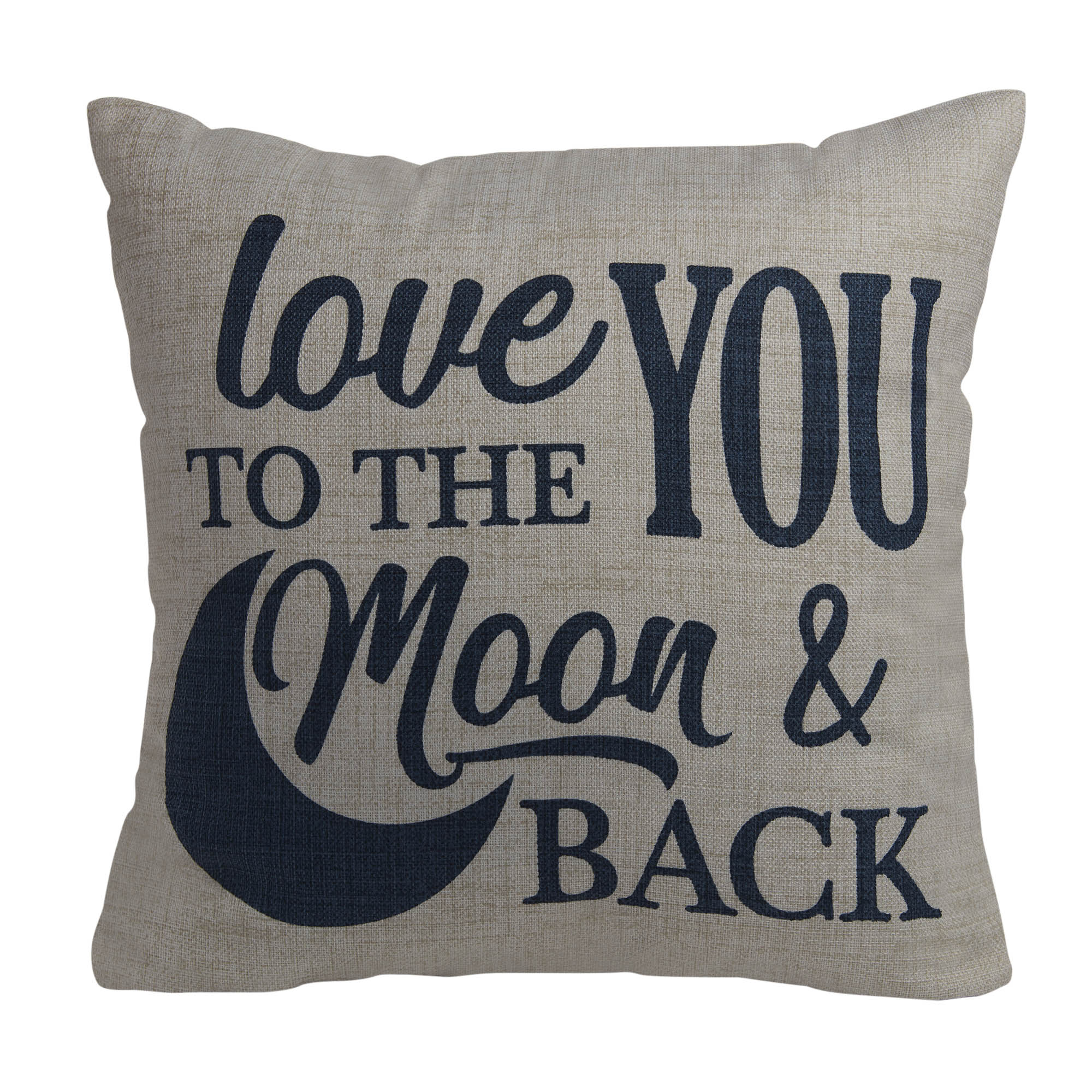mainstays love you to the moon and back decorative throw pillow 18 x 18 walmart com