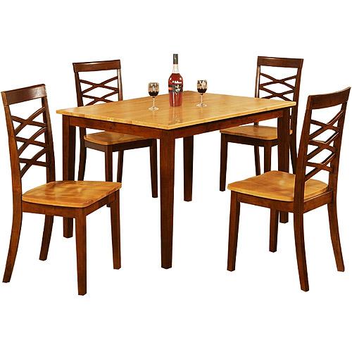 Primo Maria 5 Piece Dining Set Oak Walmart Com Walmart Com