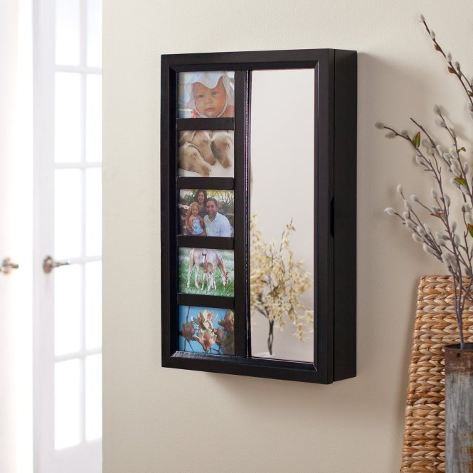 Double Mirror Jewelry Armoire Design Idea Made From Wooden Material For Living Room Decoration Plus Gl Window Ideas