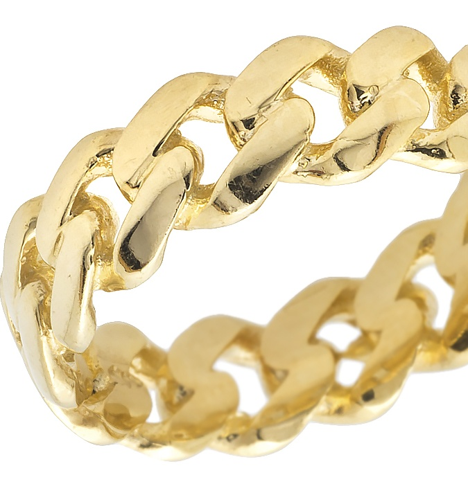 real 10k yellow gold men s ladies solid miami cuban link ring band 7mm