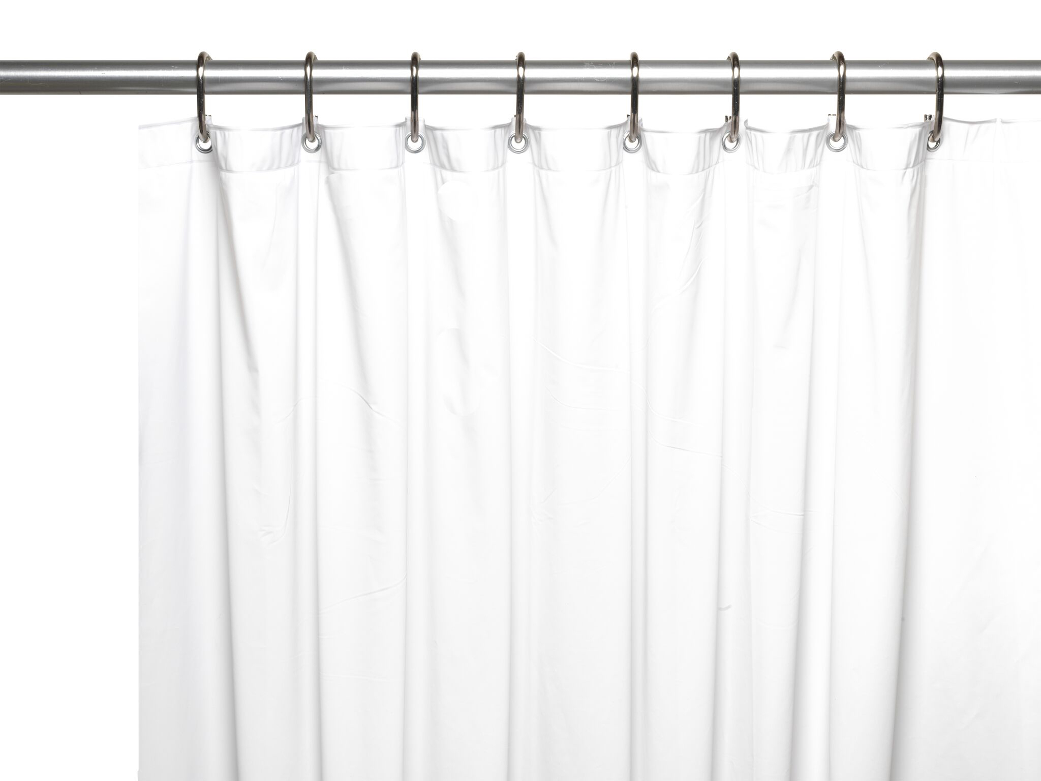 hotel collection premium heavy duty vinyl shower curtain liner with metal grommets white walmart com