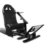Racing Seat Driving Simulator Cockpit Adjustable Gaming Chair Steering Wheel Pedal Gear Shifter Mount Green Walmart Com Walmart Com