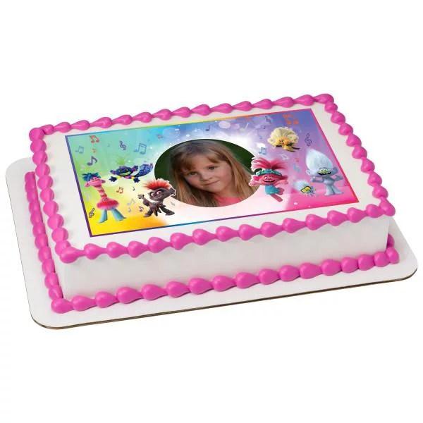Dreamworks Trolls 2 Upbeat Edible Cake Topper Image Frame Walmart Com Walmart Com