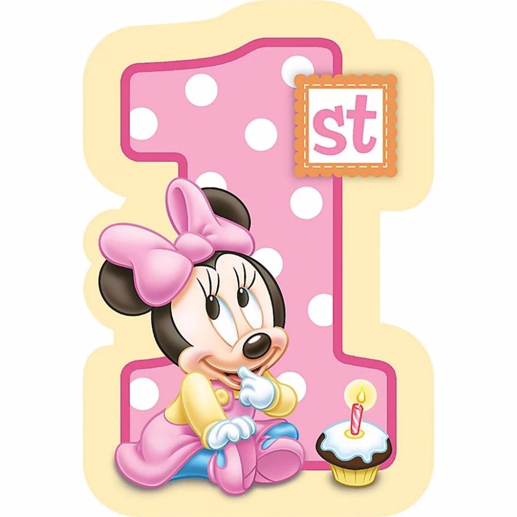 Baby Minnie Mouse Happy 1st Birthday Edible Cake Topper Image Abpid06241 Walmart Com Walmart Com