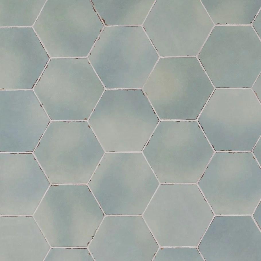 bond tile palo alto hex ocean blue 5 5 in x 6 in porcelain floor and wall tile 5 38 sq ft case