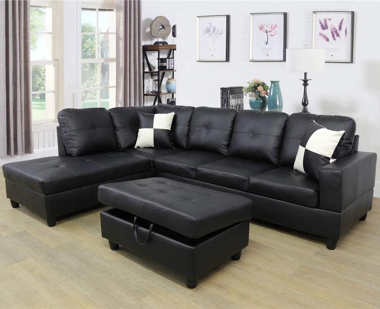 black sectional sofas walmart com