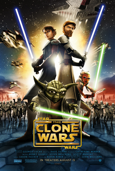 star wars the clone wars movie poster print regular style size 27 x 40