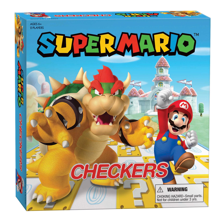 Super Mario Checkers Mario Vs Bowser For 2 Players Ages 6 And Up Walmart Com Walmart Com