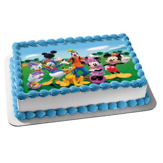 1 4 Sheet Mickey Mouse Clubhouse Edible Frosting Cake Topper Image Abpid07138 Walmart Com Walmart Com