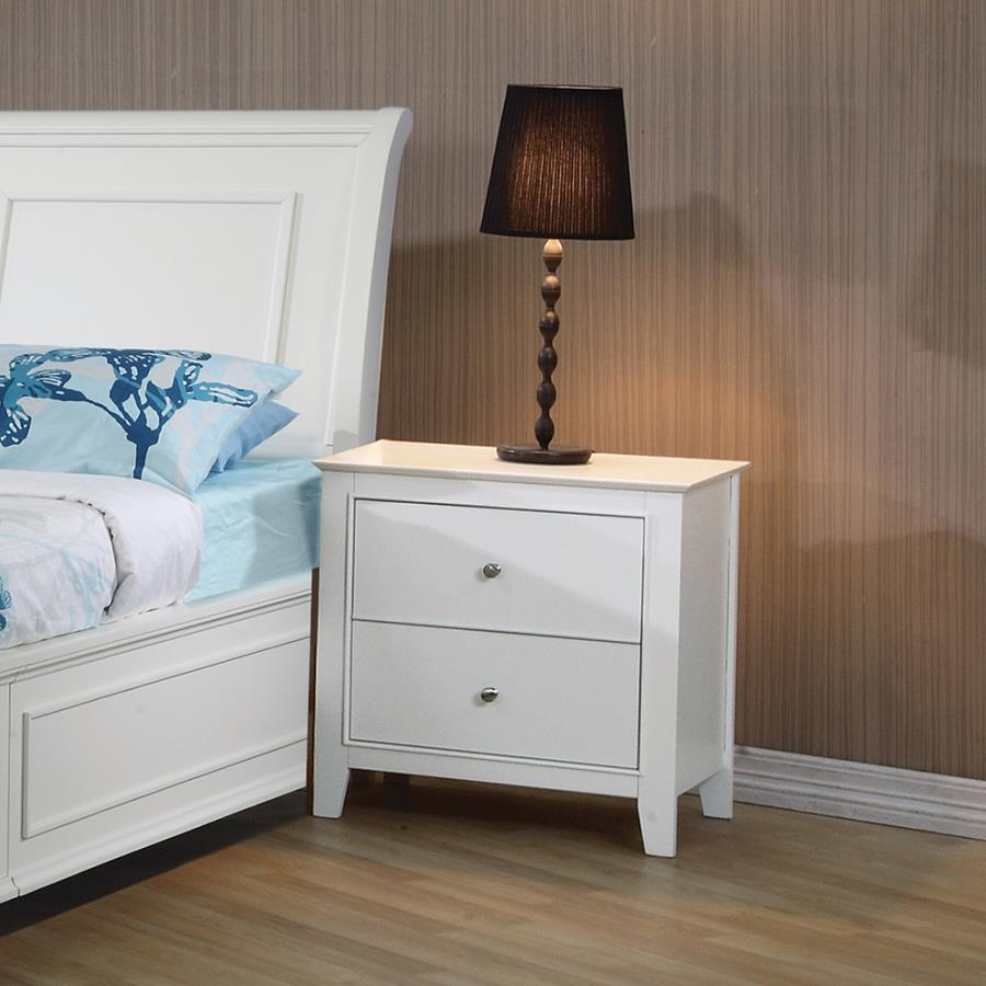 coaster home furnishings transitional nightstand white