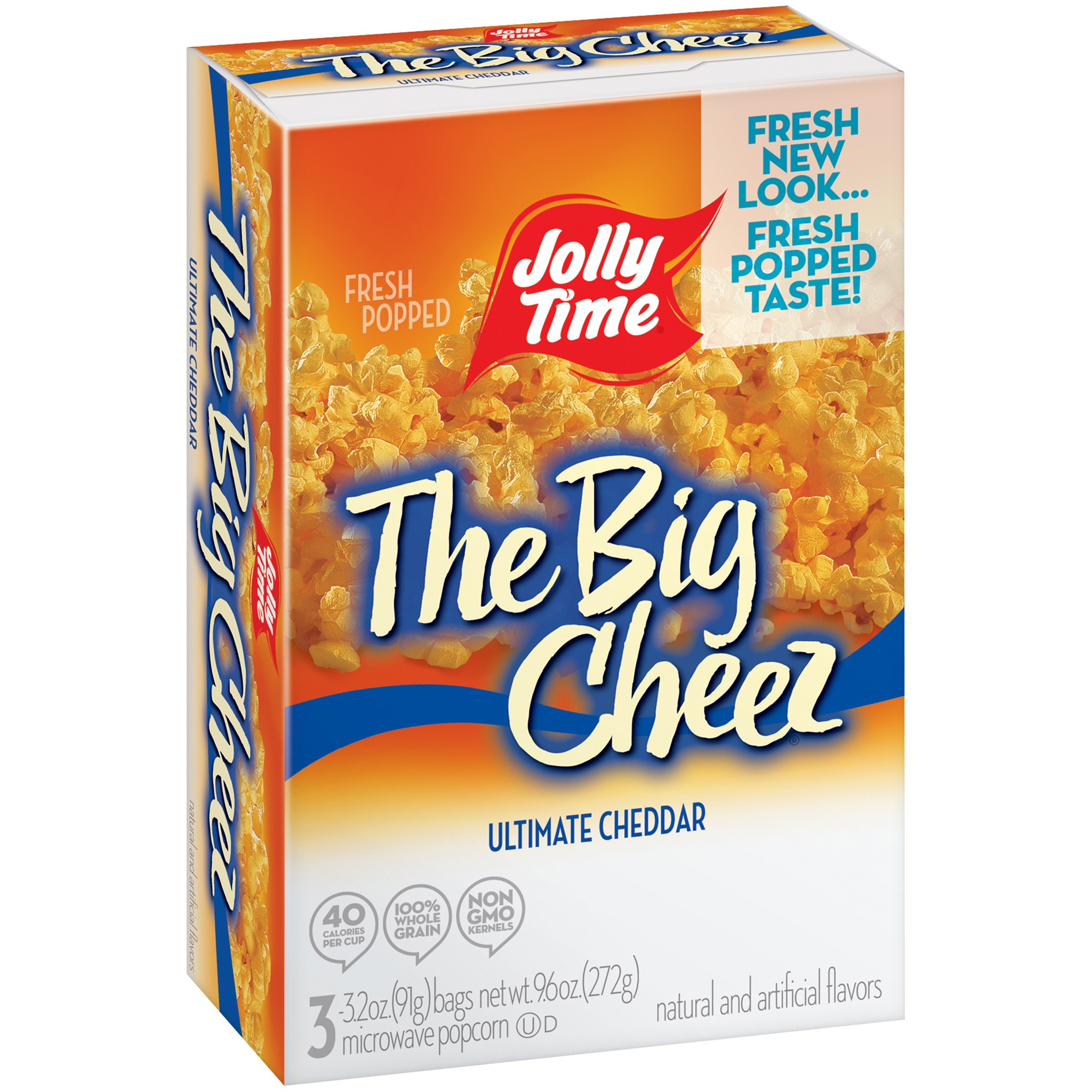 6 pack jolly time the big cheez ultimate cheddar microwave popcorn 3 count 10 5 oz walmart com